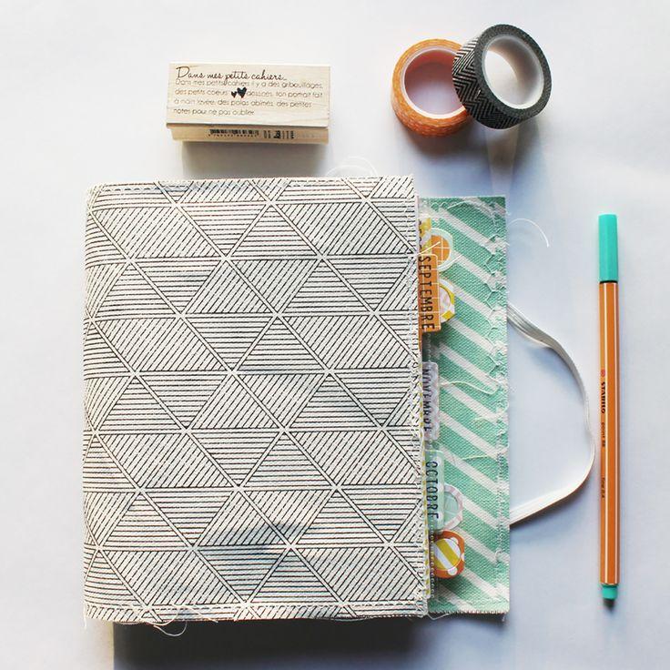 Fabriquer un petit classeur souple... idée pour carnet de voyage ?