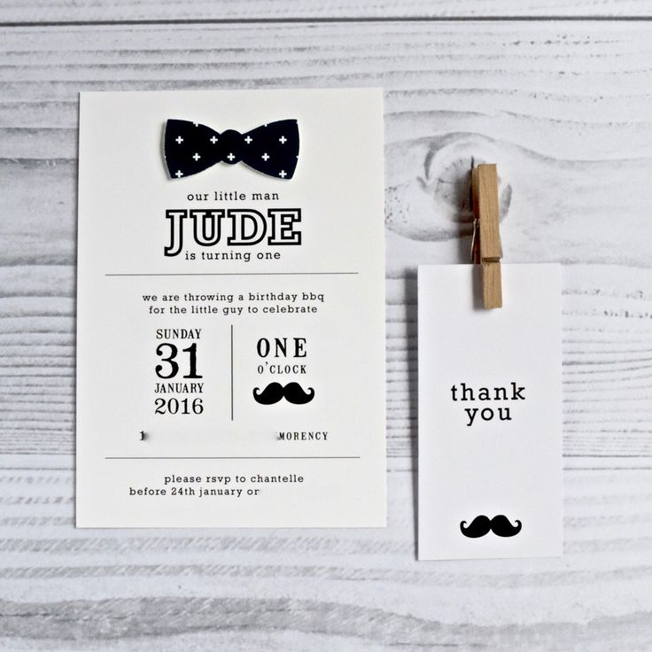 Little man invitation Designed by and available from www.emmasmith.com.au