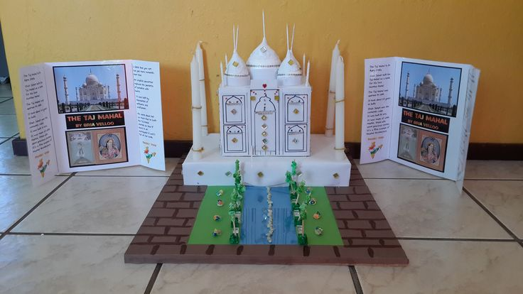 Taj Mahal School Project | School projects, School crafts ...
