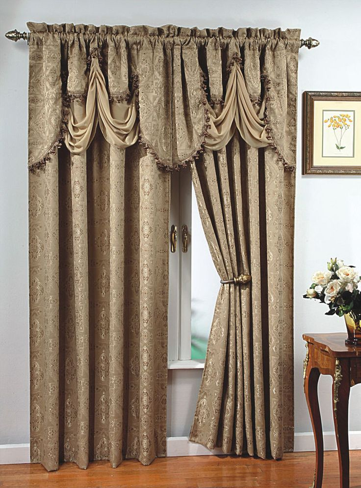 Details About Luxury Portofino Window Curtain Jacquard