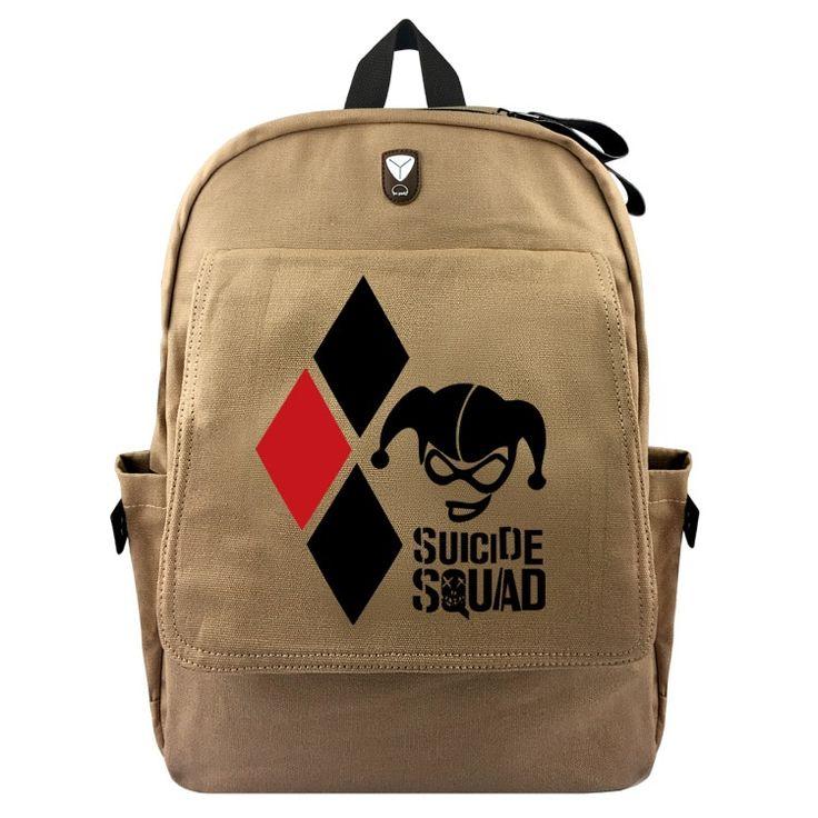 DC Suicide Squad Harley Quinn Backpack Bookbag Daypack Cosplay Canvas Knapsack