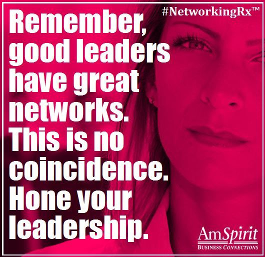 #NetworkingRx: What do you consider good leadership qualities?