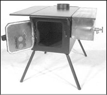Heat your 8 x 10 wall tent or 10 x 10 winter tent in comfort with a Three Dog DX from Four Dog Stove