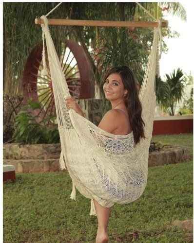 Pin it! :) Follow us :))  zPatioFurniture.com is your Patio Furniture Gallery ;) CLICK IMAGE TWICE for Pricing and Info :) SEE A LARGER SELECTION of  patio hammocks at http://zpatiofurniture.com/category/patio-furniture-categories/hammocks/ - home, patio, home decor, hammocks  - Outdoor Classics Large Natural Colored Mayan Chair Hammock with Wood Bar « zPatioFurniture.com