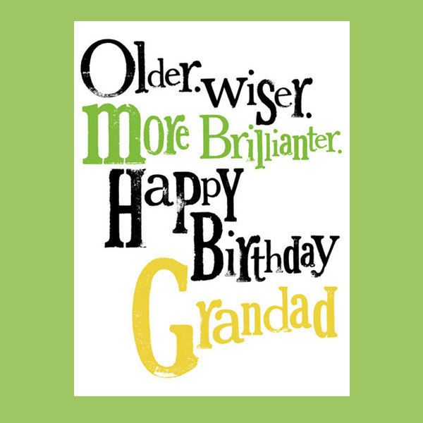 Happy Birthday Grandad, Greeting Card For Grandfather