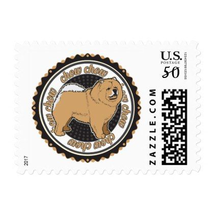 Chow Chow Dog Breed Lover Postage - dog puppy dogs doggy pup hound love pet best friend