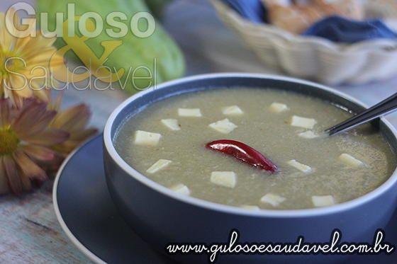 Sopa Creme de Chuchu Termogênica » Liquidificador, Receitas Saudáveis, Sopas » Guloso e Saudável