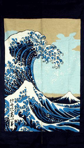 Noren-Hokusai's Great Wave