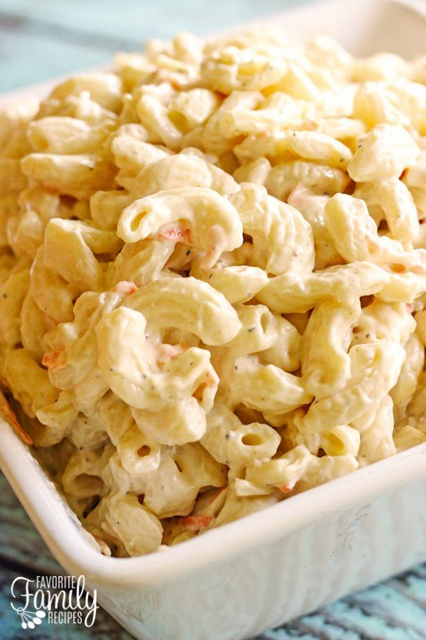 This Hawaiian Macaroni Salad is the real deal. A no-frills, creamy mac salad that is the perfect side dish for any BBQ or Luau!