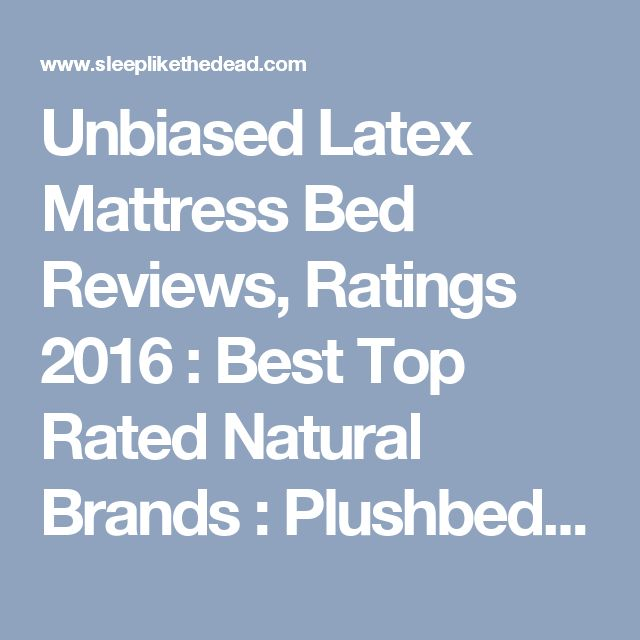 Best latex beds review