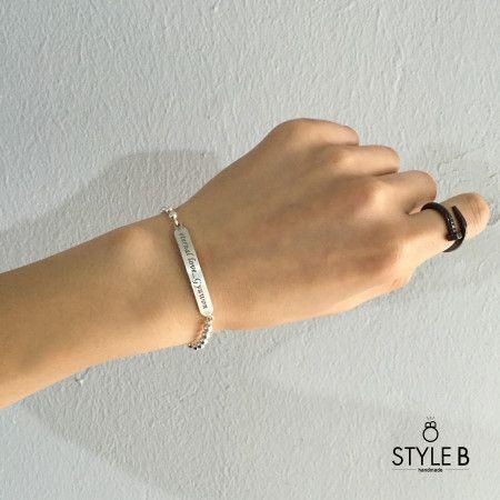Friendship bracelets couple bracelets &  And a deep engraved initials phrase you want a bar of silver bracelet is a stick-making  실버바 이니셜 각인 커플팔찌 / Silver ball stick bracelet        우정팔찌&커플팔찌  원하는 이니셜 문구를 스틱형의 실버바에 깊은 각인을 하여 제작하는 은팔찌입니다   #Silver #ball #stick #bracelet