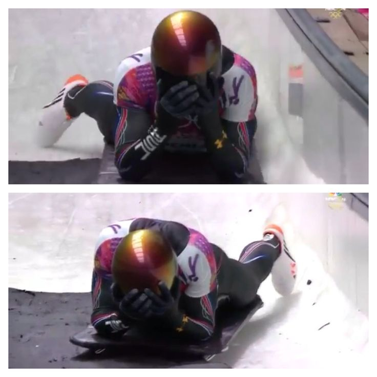 John Daly, Skeleton. Felt really sorry for him, that was one of the strongest images I've seen so far at the Olympics. Years of hard work and only one second ruins it all. Now, hold your head high, dig it, and come back stronger, champ!