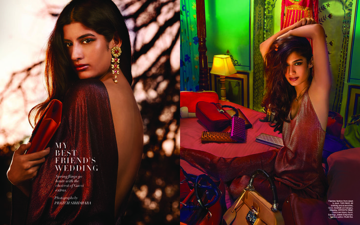 My Bestfriend's Wedding- an exclusive accessories fashion editorial with Gucci for Harper's Bazaar Bride, April '14.
