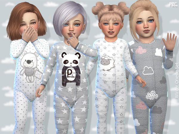 Toddler Winter Onesie Set - The Sims 4 Download - SimsDom