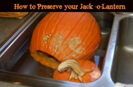 Pumpkin Carving Tips :: How to Preserve your Jack -o-Lantern - Tips and Tricks  I should have read this a week ago.