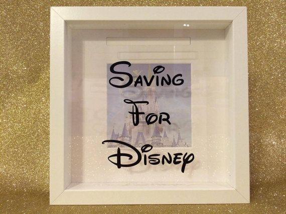 Saving For Disney Money Box Frame Honeymoon by PrintedRibbon4U