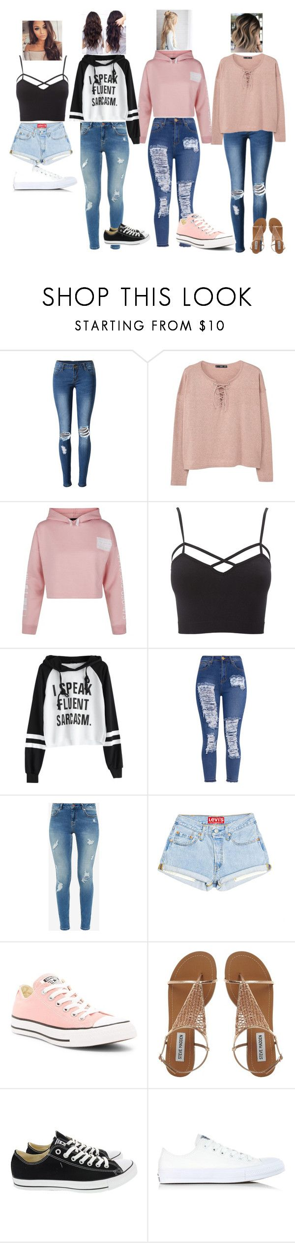 """4 random outfits"" by totallytay on Polyvore featuring WithChic, MANGO, New Look, Charlotte Russe, Ted Baker, Converse and plus size clothing"