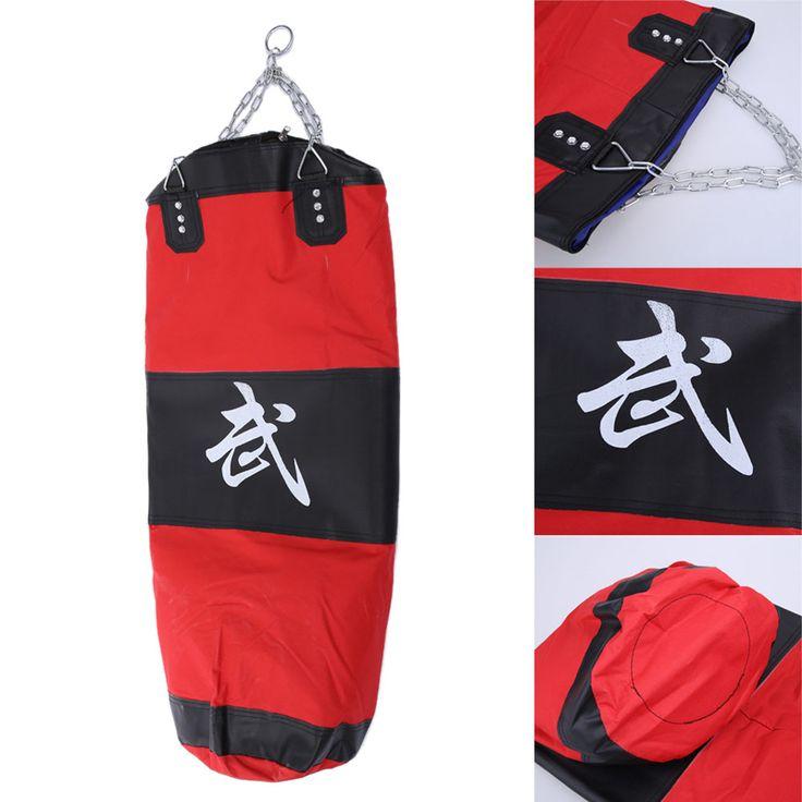 100cm Red&Black MMA Boxing Training Bag Hook Kick Sandbag saco terrero Fight Punching Bag For Sports Body Building