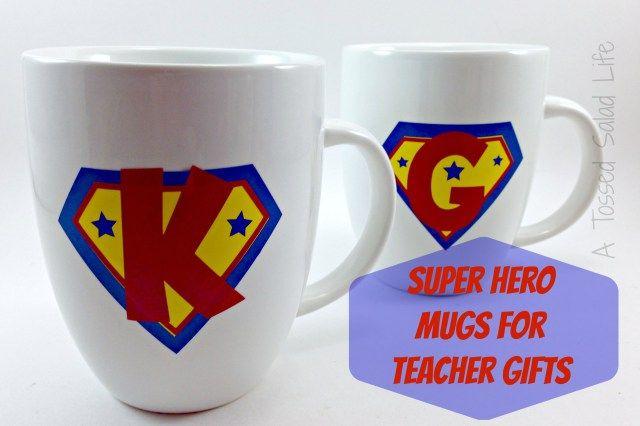 Super Hero Mugs for Male Teacher Gifts Title