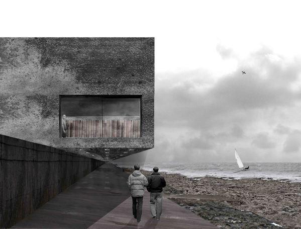 South Gare Visitor Centre by Alex McCann, via Behance