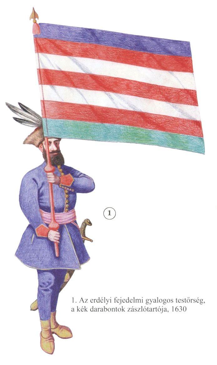 Transylvanian Kék Darabontok standard bearer, 1630