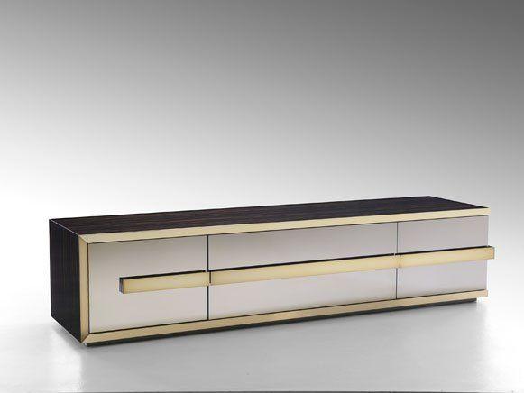 Fendi Casa - sideboard Bryant Madia. Golden details in this amazing modern buffet. Golden Buffet, dining room buffet http://buffetsandcabinets.com/