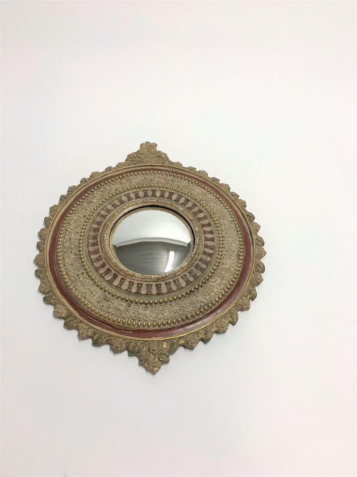 Specchio convesso dell'annata, 1950s decorata specchio
