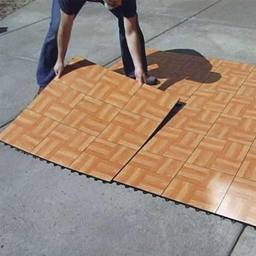 how to build a dance floor outside