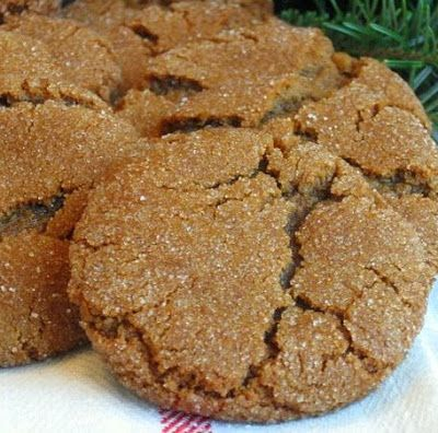 Molasses cookies  (Penzey's recipe) One of my absolute favorite cookies