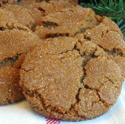 Molasses cookies  (Penzey's recipe) One of my absolute favorite cookies