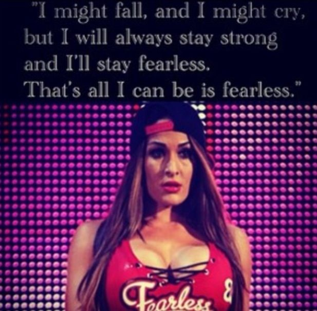 Be Fearless... So glad she's training for her return