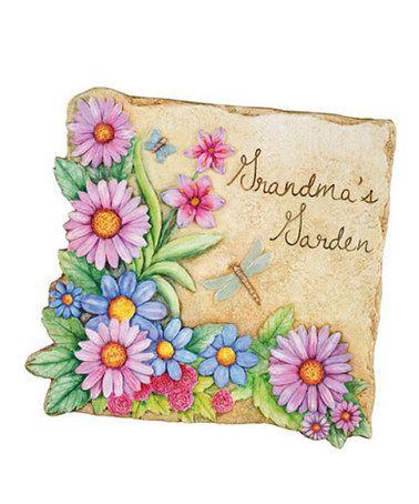 This 'Grandma's Garden' Garden Stone is perfect! #zulilyfinds