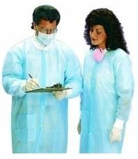 disposable lab coats with cuffs!