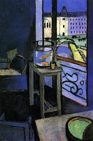 Henri Matisse. Intérieur, bocal de poissons rouges. 1914.