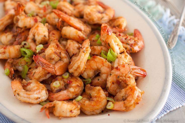 Plump Shrimp Simmered in a Spicy Garlic & Ginger Sauce: Bad Food But, Seafood Recipes, Plump Shrimp, Yummy Recipes, Spicy Garlic, Ginger Sauce, Shrimp Simmered, Foodgasm Plump, Favorite Recipes