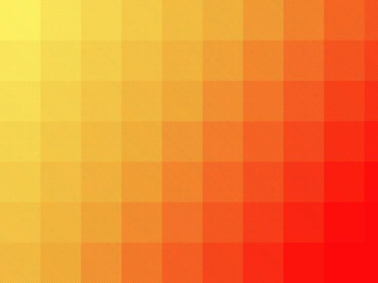 Square Pattern Orange Wallpaper