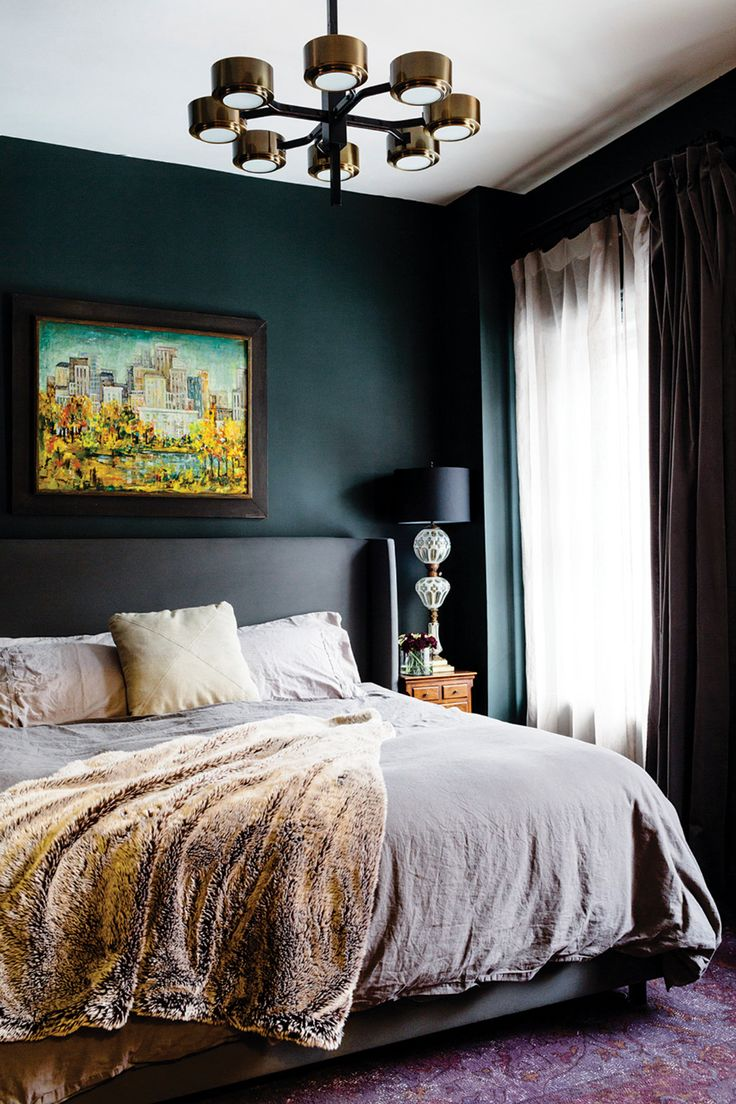 Living Small: To the Max. Dark BedroomsEclectic BedroomsGreen ...