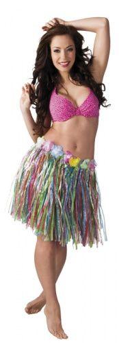 Gonna hawaiana multicolore adulti: disponibile anche in tinta unita e tanti colori differenti! L'accessorio indispensabile per la tua festa hawaiana!