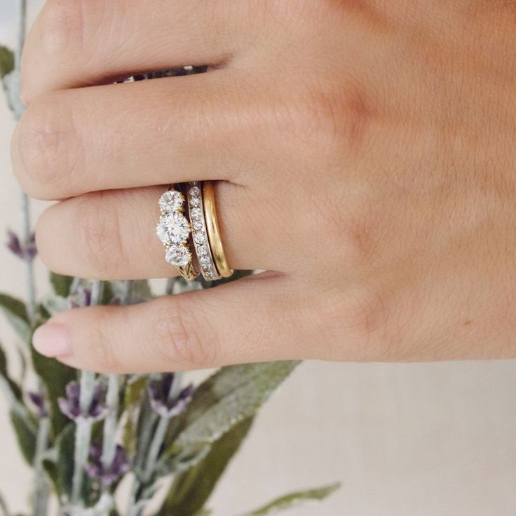 Victorian Three Stone Engagement Ring | Noelle - Victor Barbone – Victor Barbone Jewelry