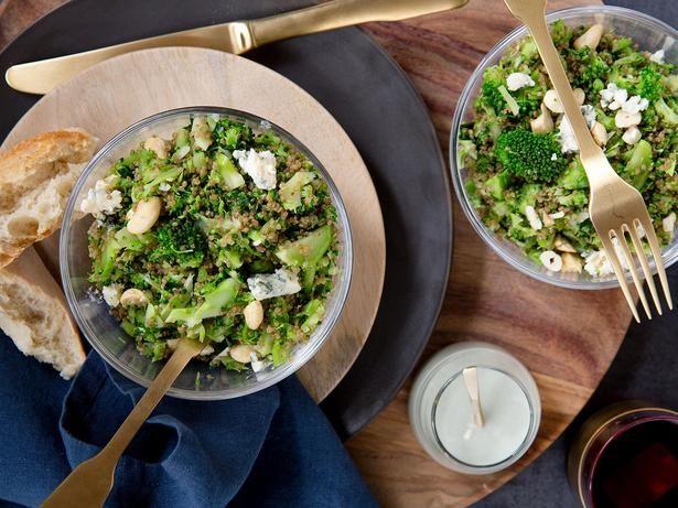 Quinoa and Broccoli Salad Recipe with Blue Cheese Dressing - Viva