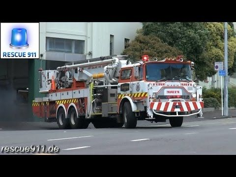Fire response - New Zealand Fire Service Auckland City Fire Station - YouTube