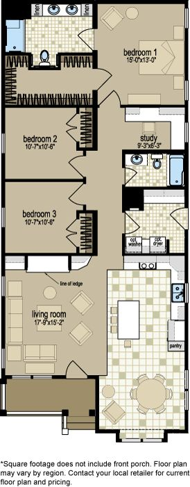 25 best ideas about double wide home on pinterest for Single wide floor plans with porch