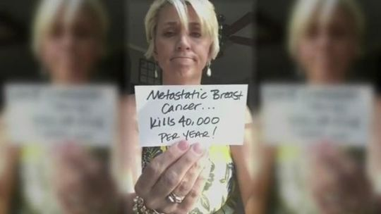 Local mom's message about breast cancer goes viral. The video was viewed more than 50 million times and garnered the attention of Good Morning America, who interviewed her. RIP, january 2016.