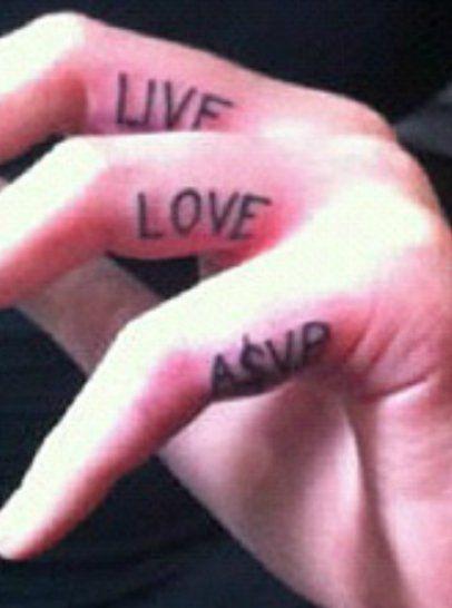 "Iggy Azalea's ""LIVE.LOVE.A$AP."" Tattoos on Her Fingers"