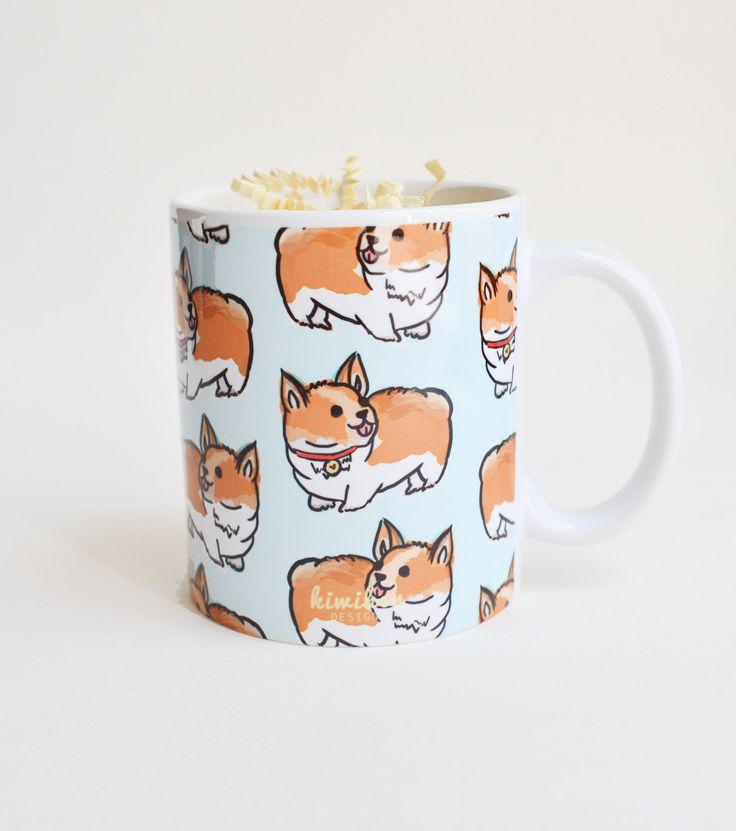 Welsh Corgi Pattern Mug
