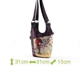 Sac à main Ketto - fille coccinelle / Ketto's handbag - ladybug girl * Fabriqué à 80% de bouteilles de plastique recyclées / Made of 80% of recycled plastic bottles * www.kettodesign.com