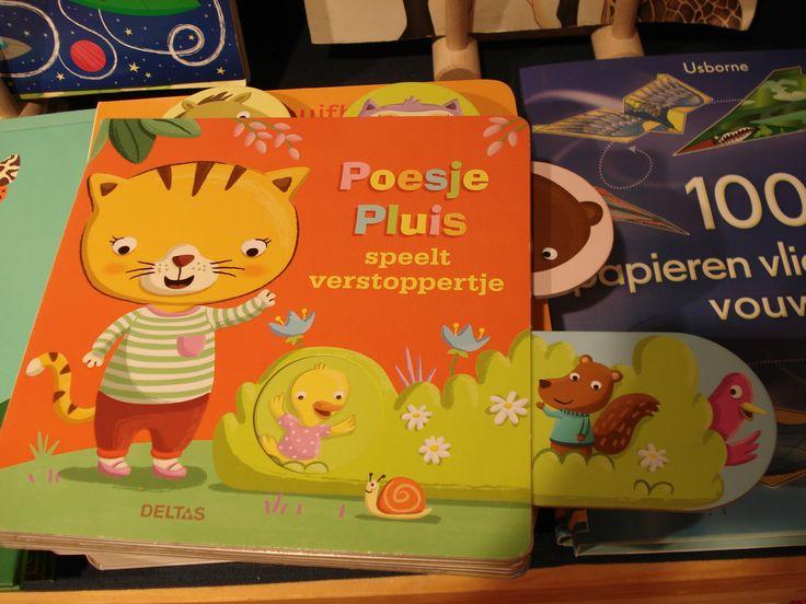 """poesje pluis speelt verstoppertje (uitgeverij DELTAS) oa verkrijgbaar bij Dille&Kamille (of """"muisje mini zoekt zijn mama"""" of """"konijntje knabbel zoekt haar knuffel"""")"""