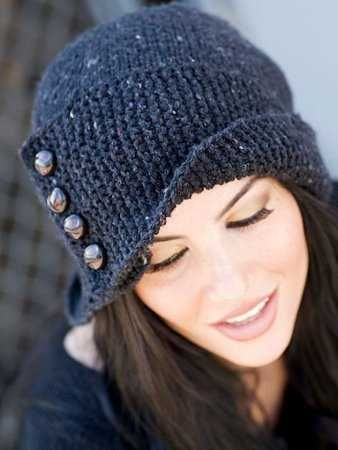 This beanie is truly beautiful and warm for one girl has four bottons the metal,there in red,pink,blue,gray,white,purple and black,its cost is the $99.90.