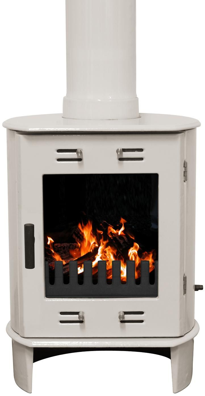 5KW Dante Cream Enamel Multi Fuel Stove