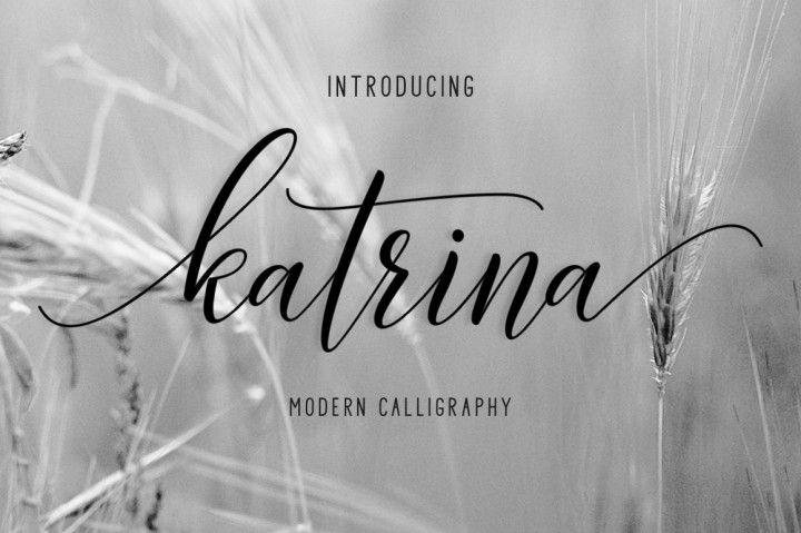 Font Katrina Script Only  $1